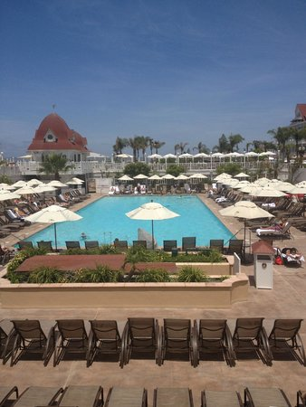Hotel del Coronado: main pool area - view from our veranda