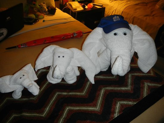 Carlton Inn Midway: Towel animals!