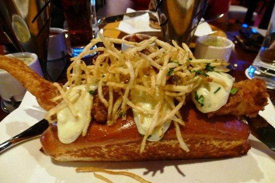 Fish & Crisp Sandwich - Ale battered cod + salt & vinegar crisps ...