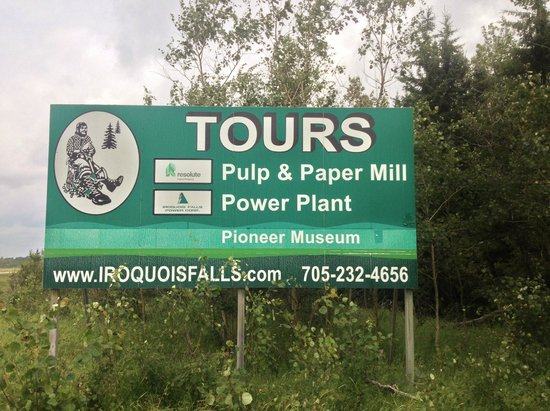 Iroquois Falls Tours Hwy 11 Sign