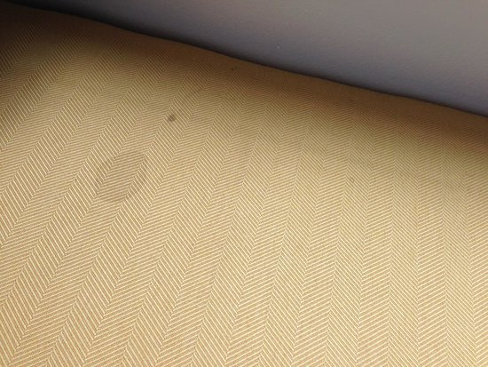 Microtel Inn & Suites by Wyndham Culpeper : Stain on cushion