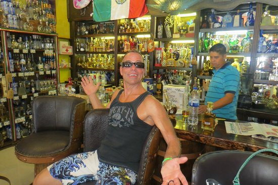 Tequila Town: My hubby having a great time sampling