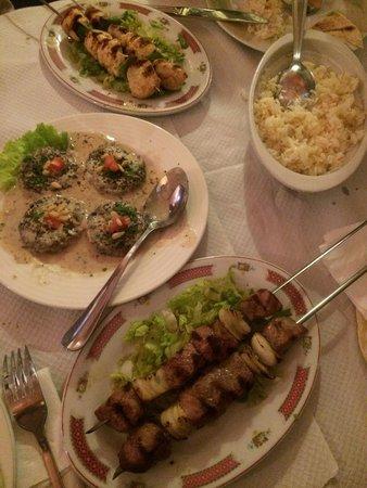 Antioche: Assortiment de plats