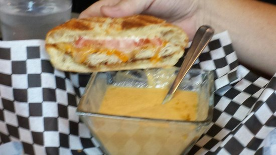 501 on Main: Lobster bisque and roasted turkey melt