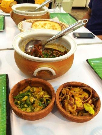 Upali's: Jaffna Crab curry, Hathmaaluwa (Vegetarian), Isso Beduma