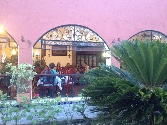 Casa Mission: The view from the garden to where we dined