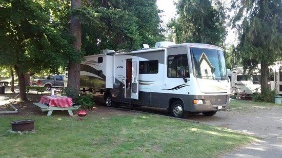 Totem Motel & Resort: Our campsite