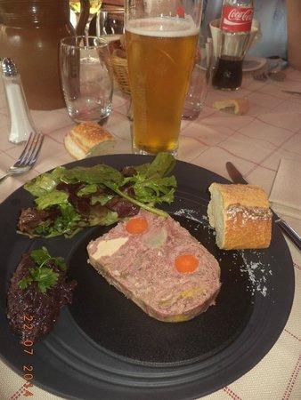 Hotel l'Heliopic: Chamonix Mountain Terrine and Blond Beer :)