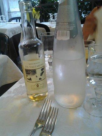 Ristorante da Nazzareno : Da Nazzareno ha anche un buon vino con etichetta propria
