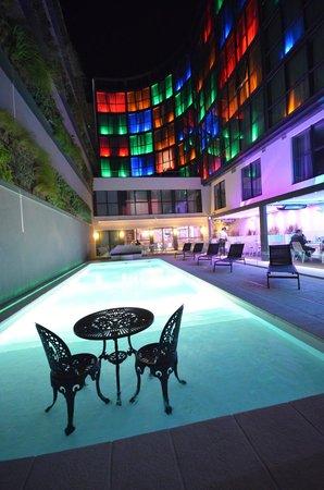 Holiday Inn Dijon Toison d'Or : Piscine Terrasse Jardin