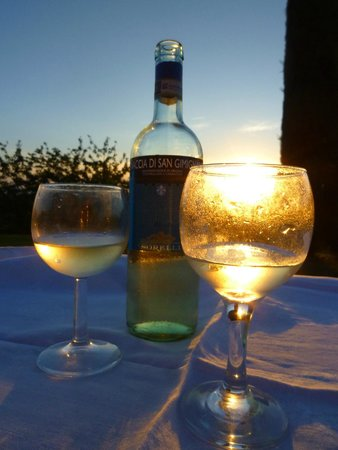 Torre di Ponzano - Chianti area - Tuscany -: Wine and dine in the lovely garden with sunset view