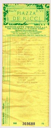 Pierluigi: the bill - 3 small plates of pasta