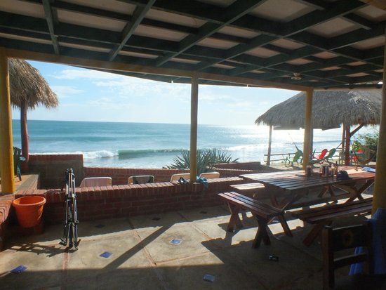 La Barra Surf Camp: View from the camp and where you eat