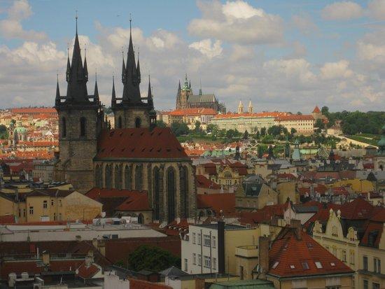 Hotel Paris Prague : Utsikt mot Prague Castle