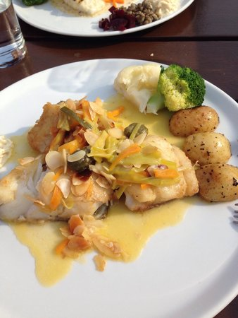 Out of the Blue Seafood: Roasted Cod with Almond Butter