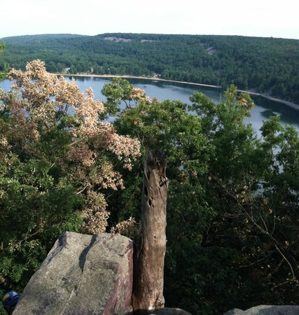Devil's Lake State Park: Devil's Lake from West Bluffs