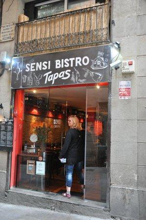 Sensi Bistro Barcelona : Indgangspartiet