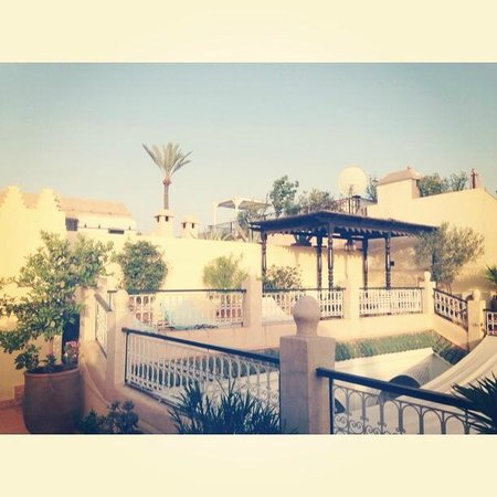 Riad Aguerzame : view from the terrace