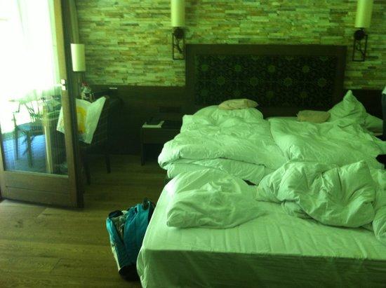 Hotel Schloss Ragaz: Lit double des parents