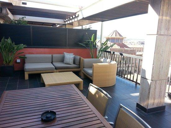 U232 Hotel: Terrazzo camera superior nono piano.