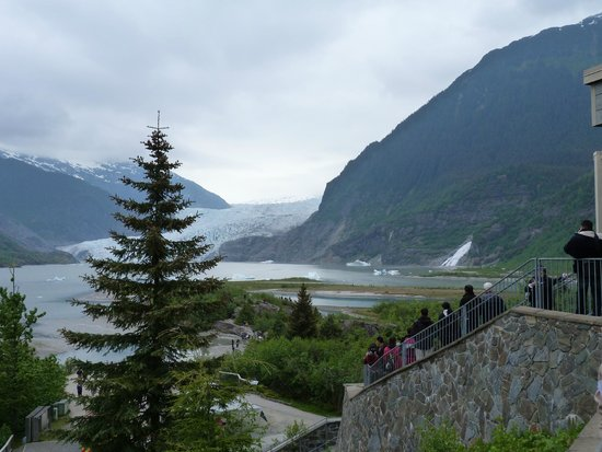 Mendenhall Glacier Visitor Center: View of the Glacier from the Visitor's Center
