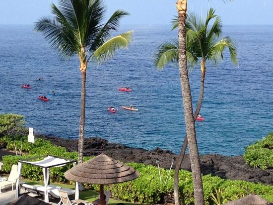 Sheraton Kona Resort & Spa at Keauhou Bay: View from our balcony on the 3rd floor