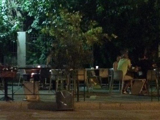 Prosopa: Outside tables