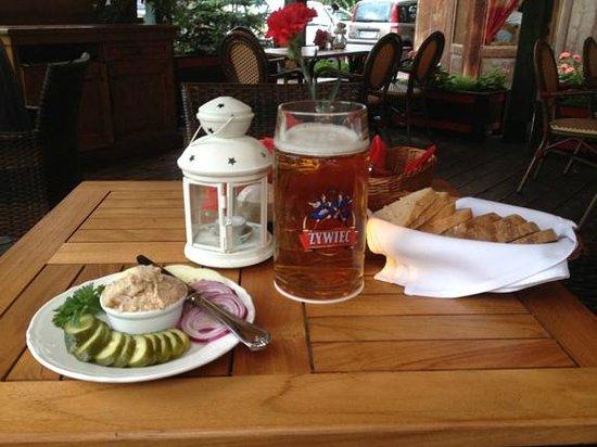 Czerwony Wieprz : Starter and beer
