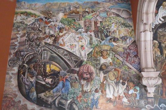 Palacio de Gobierno : 中の唯一見られた壁画