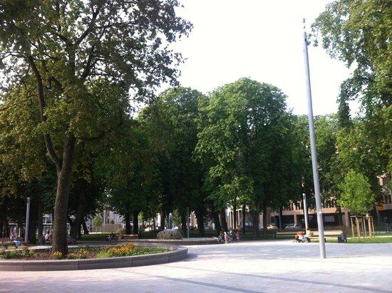 City Hotel Ost am Kö: Трамвайные остановки и парк с площадками для детей, для выступлений, праздников