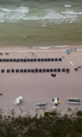 Splash! in Panama City Beach: View of beach from balcony