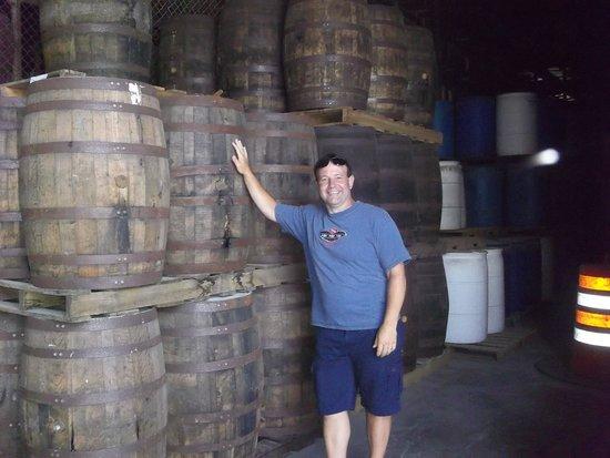 Cruzan Rum Distillery: rum barrels