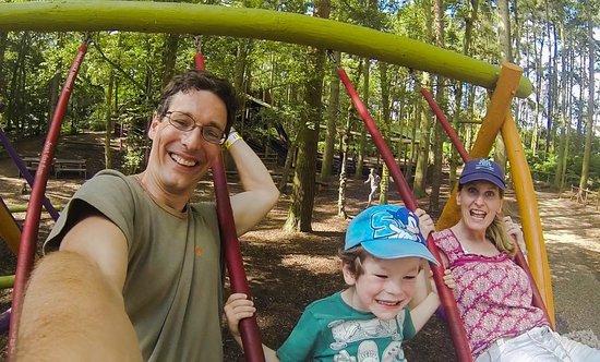 BeWILDerwood: Brilliant family swings - he who swings hardest, swings highest