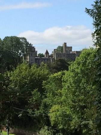 Ballyrafter Country House Hotel: view of Lismore castle from the Ballyrafter