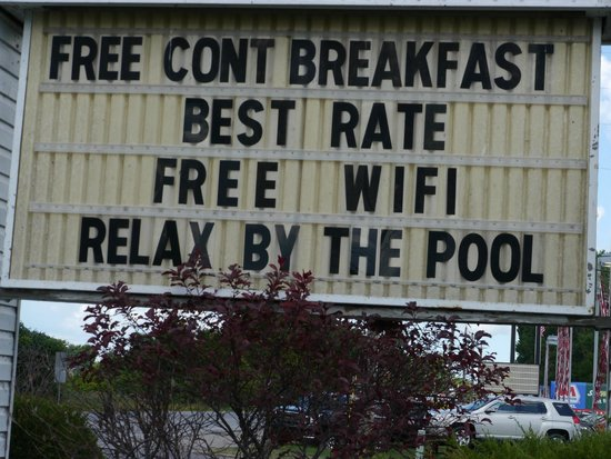 Knights Inn Sandusky OH : All true!