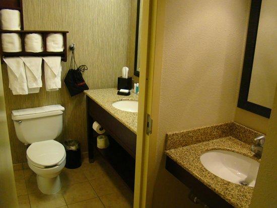 Hampton Inn Scranton at Montage Mountain: bathroom area