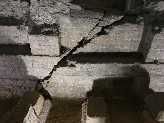 Praetorium: reatorium Ruins Showing Earthquake Damage from about 800AD
