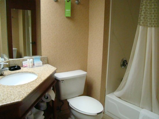 Hampton Inn Hazleton: bathroom