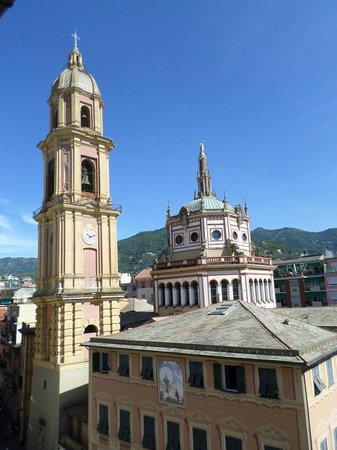 Albergo la Piazzetta: panorama dalla sala colazione-pranzo