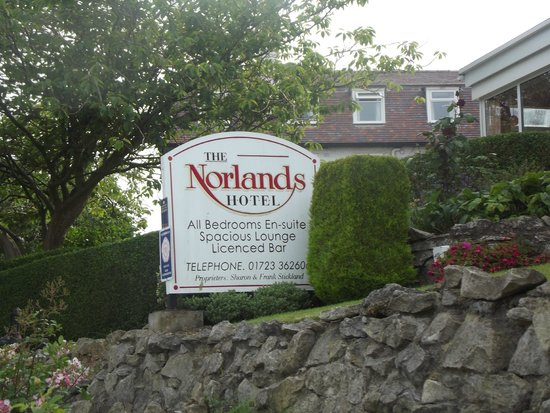 Sign For The Norlands Hotel, Scarborough