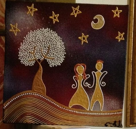 McGuire's Coffee Shop: They sell the art of local artists and it decorates the walls of the cafe