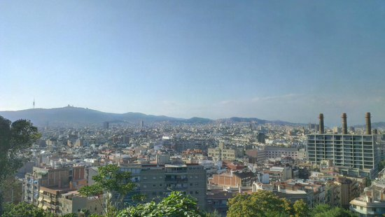 Fat Tire Bike Tours Barcelona: hillside views