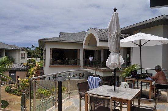Wyndham Bali Hai Villas: Patio Area at the Clubhouse