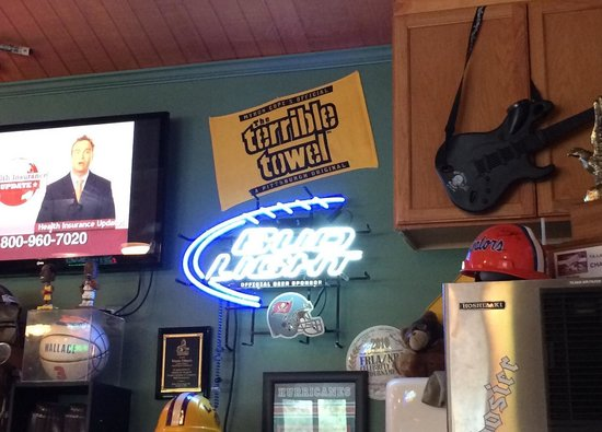 Cousin Vinny's: Glad to see our Terrible Towel on display!!