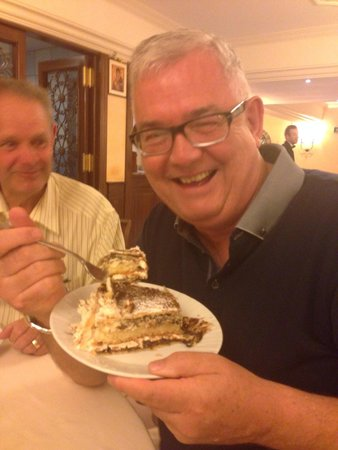 Michelangelo Hotel: John and 'the cake'