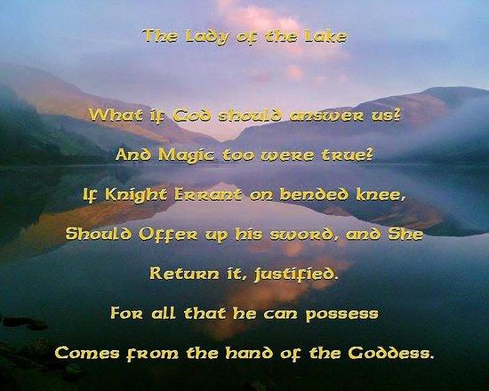 Pen-y-Bont Hotel: The Lady of the Lake (love poem of Tal-y-Llyn)