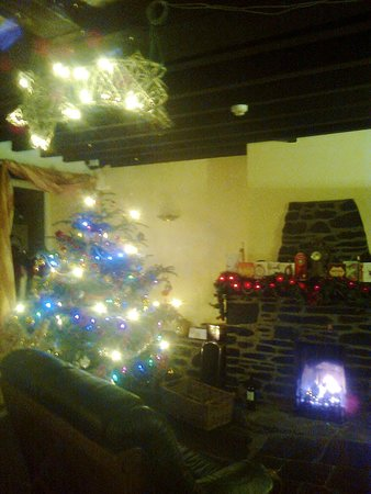 Pen-y-Bont Hotel: The 16th Century Fireside Restaurant at Christmas.