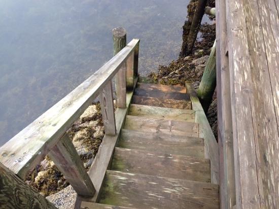 Henningsvaer Bryggehotell: Glatt trapp til sjøen