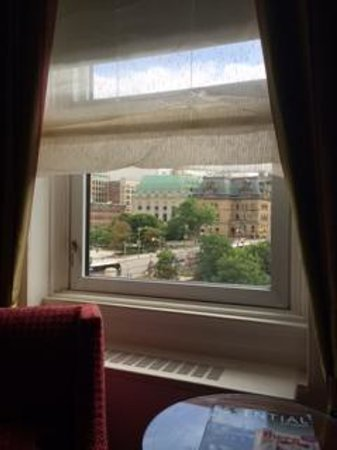 "Fairmont Chateau Laurier: View from a ""view room."""