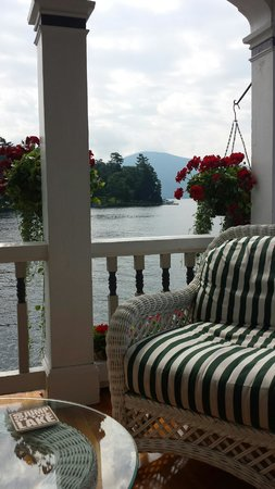 Boathouse Bed and Breakfast A Lake Castle Estate on Lake George: View from the main deck.